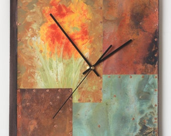 14 inch Copper and Metal Clock