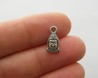 12 Buddha charms antique silver tone R83