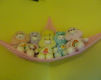 Hammock for Stuffed Animals, Petal Pink Acrylic