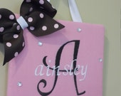 Custom Bow holders embroidered, custom made, personalized