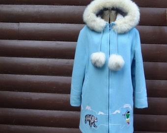 1970's, eskimo coat, by Gemini, women's size large