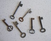 Antique Skeleton Keys from the late 1800's to Early 1900's/Set of 6