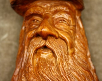 A tree spirit special wood carving birthday gift wood spirit