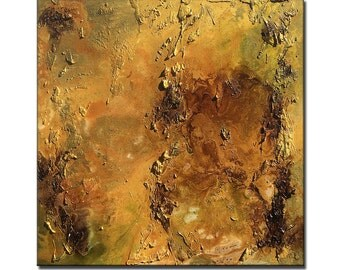 Huge Original Abstract Painting,Rich Textured Metallic Contemporary Canvas Art Interior Design by Henry Parsinia large 36x36