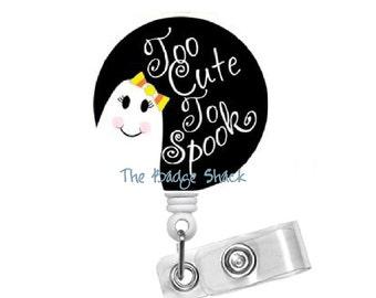Cute Ghost - Name Badge Holder - Lanyard - Nursing Badge - Teacher  Badge - Nurses Badge - Halloween Badge - RN Badge - PICU  - Nurse Gift