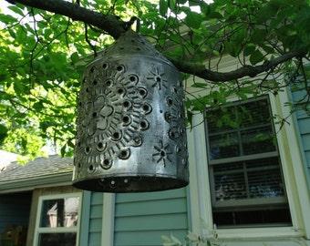 Vintage Punched Tin Lantern