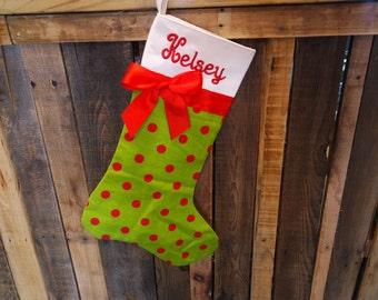 Christmas stocking//Personalized Christmas stocking// Personalized handmade Christmas stocking, monogrammed Christmas stocking