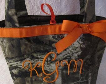Purse, pocketbook realtree, mossy oak hot pink camo camouflage purse, handbag choose name, color camo fabric small tote custom handmade