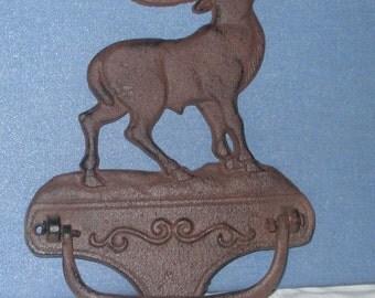 Door Knocker Majestic Elk antiqued rusty or Pick Your Color.