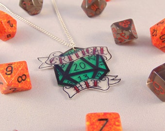 Critical Hit D20 Pendant