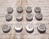 40 caliber silver bullet casing cabochon lot of 12