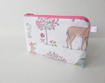 palm zippered purse