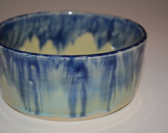 Pottery, Pet Bowls, Pet Supplies, Pet Feeding, Ceramics and Pottery, Blue and Green, HandThrown Pottery, Dog Bowl, Cat Bowl