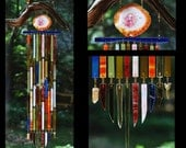 Recycled Beach Glass Inspired Wind Chimes - Marrakech Melody