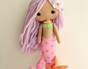 Mermaid Girl pdf Pattern - Instant Download