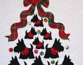 Scottie Love Tree Fabric Quilt Block 12""