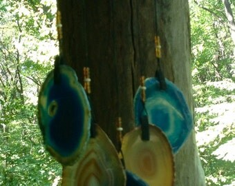 Geode Wind Chime on Drfitwood.    #77