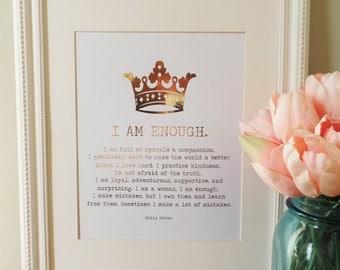 I Am Enough, 8x10 Real Foil Print