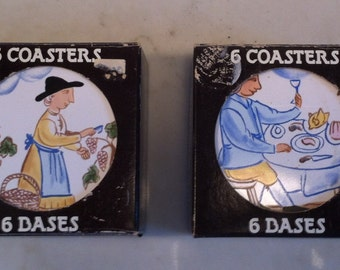 One set of Vintage Coasters, made in Portugal