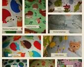 Happy hedgehog bag (pick a fabric )