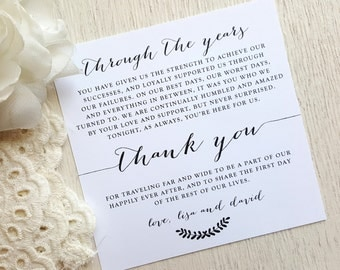 Wedding Reception Thank You Card - Style TY98 - BOMBSHELL COLLECTION | Wedding Thank You Card | Thank You Card | Thank You PRINTED