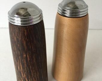 Vintage Pair of Wood Salt & Pepper Shakers
