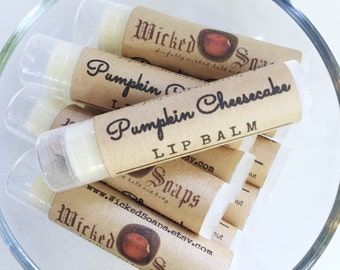 Pumpkin Cheesecake Lip Balm - Natural Lip Balm, Cocoa Butter Lip Balm, Beeswax Lip Balm