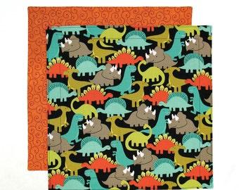 Dinosaurs Napkin, Kids Cloth Napkin, Kids Fabric Lunch Napkin for Boys, 1 double sided fabric napkin