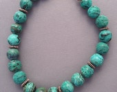 Chrysocolla with Sterling...