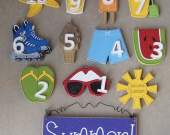 School is out count down and Summer Vacation begins!  for wall and home decor