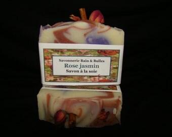 Savon à la soie Rose Vintage et jasmin