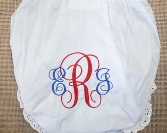 Baby Diaper Cover Toddler Bloomer Diaper Cover Embroidered with Monogram