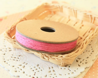 Solid DEEP PINK Divine Twine 20yd Reel 4-ply cotton bakers twine string