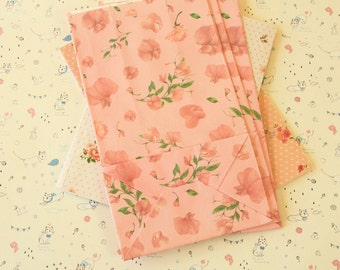 PINK Floral Paper Bags
