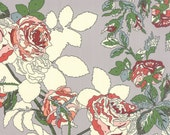 PUREBRED 3 yds Paint by number retro Blanket of ROSES Erin Michael paddock grey Winner's Circle Moda fabric 3 full yards 26093-11