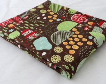 FARM FUN 3 yds fabric Chocolate Brown Background Moda Folk art quilting farmhouse prairie primitive Stacy Iest Hsu 3 full yards 20531-19