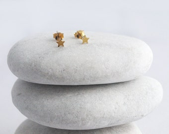 Stars Gold-Plated Stud Earrings
