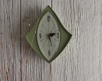 Atomic Style Wall Clock - mid century - vintage clock - GE - wall clock
