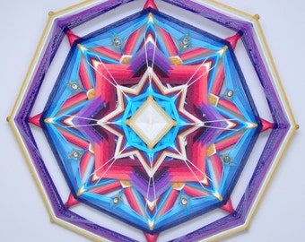 Wildflower Gems, a 24 inch, Ojo de Dios, by Inga Savage