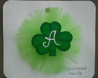 Shamrock Hair Clip, St. Patrick's Day Bow, Personalized Hair Bow