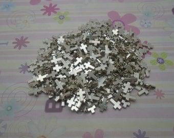 100pcs antique silver cross findings 11x8mm
