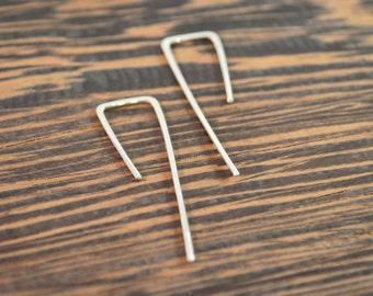 Threader Earrings in 925 Sterling Silver  - 18 gauge