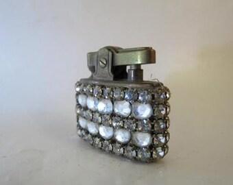 Vintage Trickette Rhinestone Wiesner Cigarette Lighter