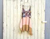 S / M upcycled boho lagenlook romantic dress / Upcycled clothing / Patchwork Dress / Funky Tunic Dress / Eco / Artsy by CreoleSha
