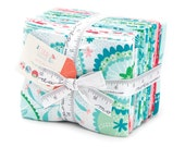 CORAL Queen of the Sea Fat Quarter Bundle and Panel - Stacy Iest Hsu for Moda - 18 x 22 Fabric Squares - Mermaid Doll - Girl Fabric