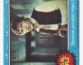 """50% OFF! Star Wars """"Space Pirate Han Solo"""" #4 original (not reproduction) vintage 1977 trading card blue set 20th Century Fox Harrison Ford"""