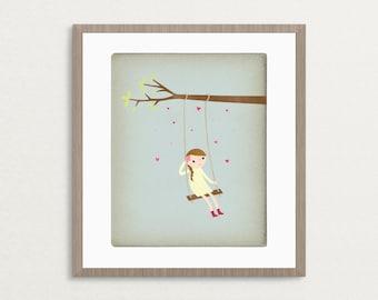 Little Daydreamer -  Customizable 8x10 Archival Art Print