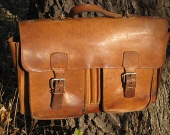 Leather Bag Travel Luggage Weekender Carry On Vintage Aged Patina Golden Rustic Distressed Lap Top Briefcase Satchel Messenger Bag Gift