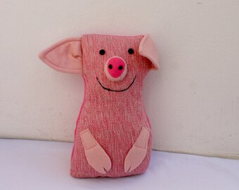 The pig, handwoven softie, plush, pillow