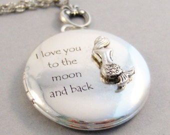 Mermaid Love,Mermaid Locket,Mermaid,Locket,Silver Locket,Ocean Necklace,Mermaid Necklace,Locket,Love You to the moon,valleygirldesigns.